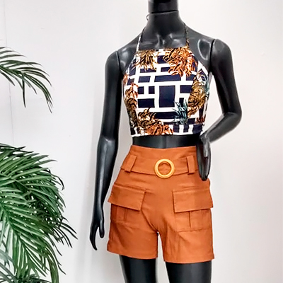 Conjunto Short e Cropped | Diamond Modas