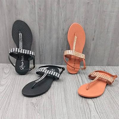 Sandália Rasteira Color | Lírio Star Calçados