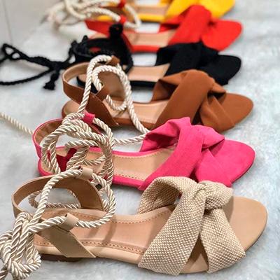 Sandália Rasteira Color | Carol Calçados