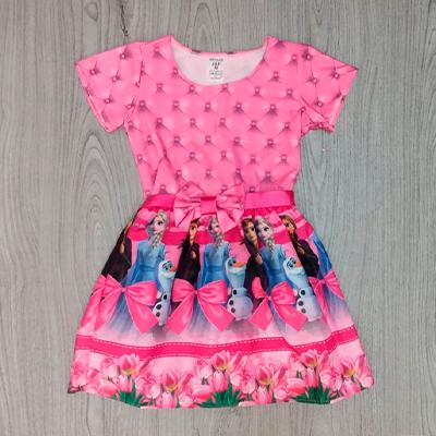 Vestido Infantil Frozen | Rosa de Saron Infantil