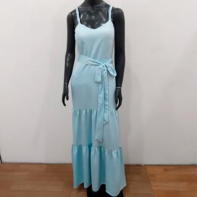 Vestido Longo Blue | Lu Modas