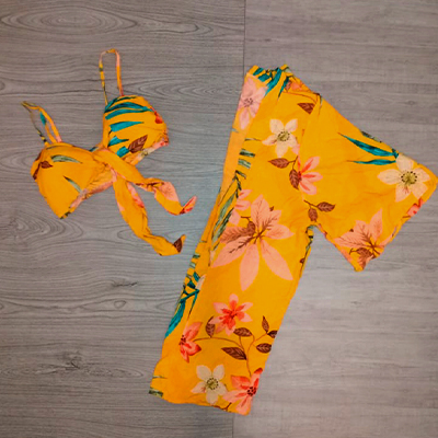 Conjunto Kimono e Cropped | Morena Flor