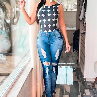 Calça Jeans Destroyed | Liz Jeans
