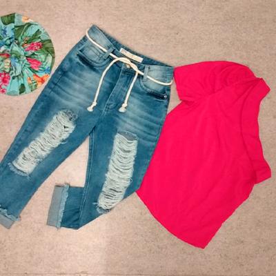 Conjunto Jeans e Blusa | Della Store