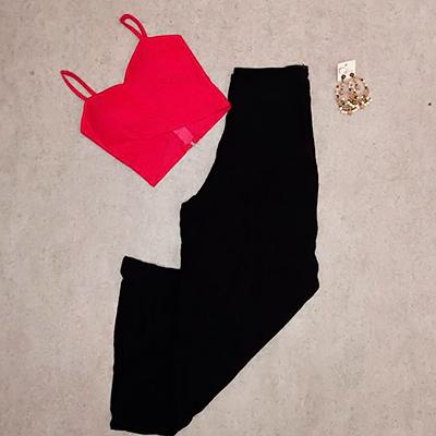 Calça Pantalona Preta | Meroki