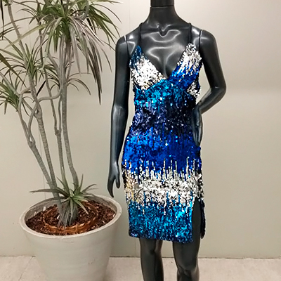 Vestido Paetê Blue | Stylo Girls