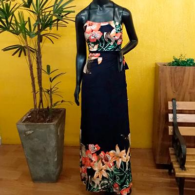 Vestido Longo Flower | Imperatriz da Moda