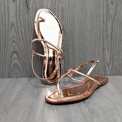 Sandália Rasteira Dourado | Rafanda Calçados
