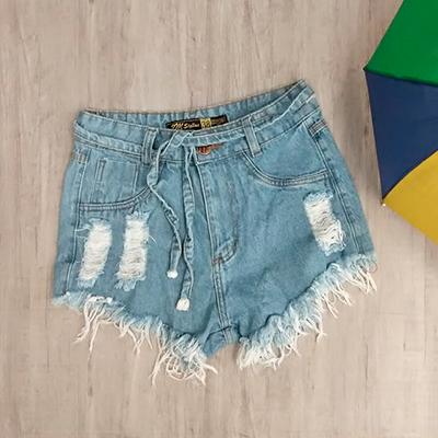 Short Jeans Desfiado | Bela Modas