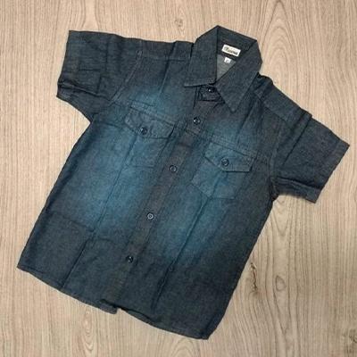 Camisa Jeans Infantil | Pé de Vento Moda Infantil