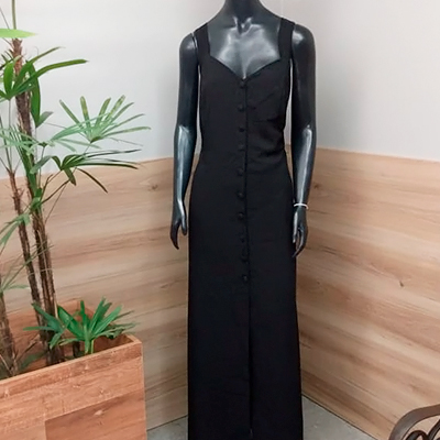 Vestido Longo Preto | Espaço Fashion