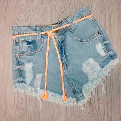 Short Jeans Desfiado | La Donna