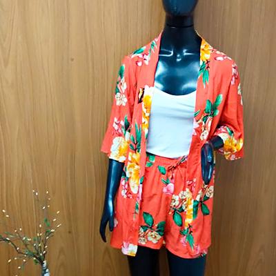 Conjunto Kimono e Short | Lu Modinhas