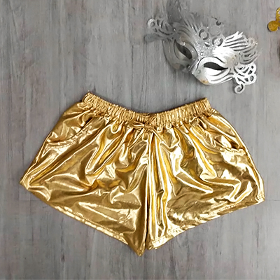 Short Feminino Dourado | Passarela da Moda
