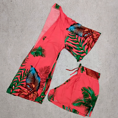 Conjunto Kimono e Short | Brilho E Glamour