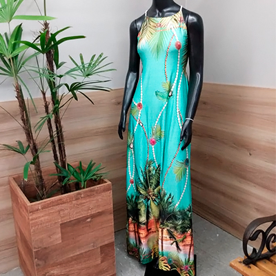 Vestido Longo Estampado | Morena Flor