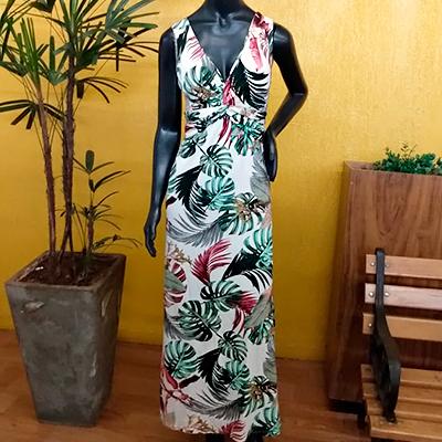 Vestido Longo Estampado | Exclusiva Boutique