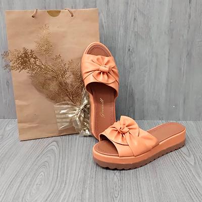 Tamanco Laço Coral   Chris Shoes