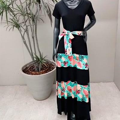 Vestido Longo Camadas | Eliane Vest