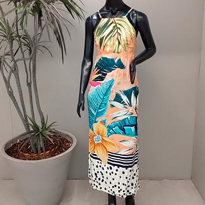 Vestido Midi Estampado | Livia Bella