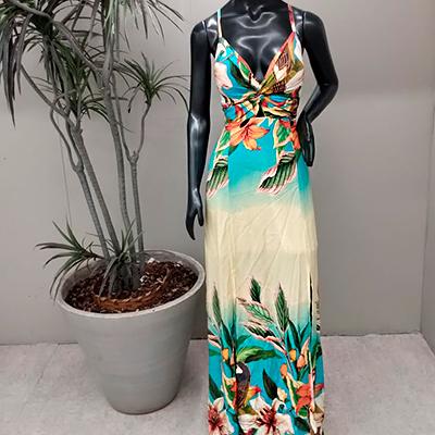 Vestido Longo Estampado | Tradição Modas