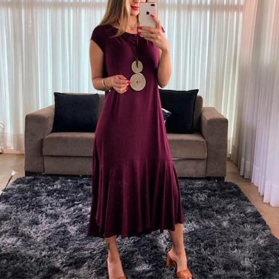 Vestido Midi Marsala | Setembro 23