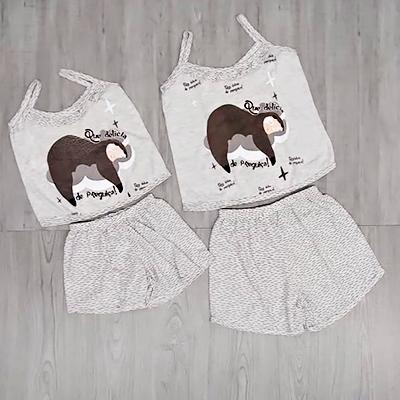 Conjunto Pijama Estampado | Uau Moda Feminina e Íntima
