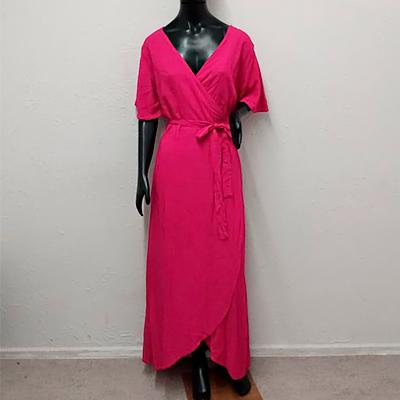 Vestido Longo Pink | Byanca Modas