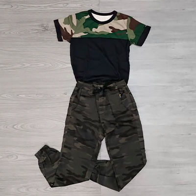 Conjunto Infantil Camuflado | Pingo de Gente
