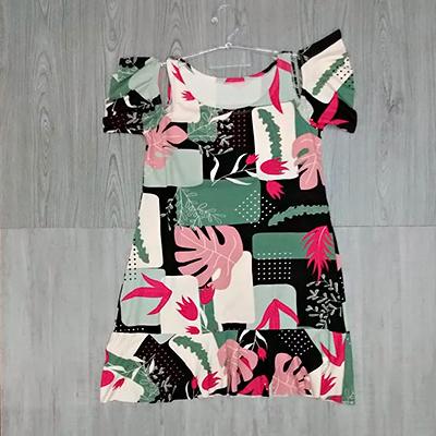 Vestido Curto Estampado | Belíssima Modas