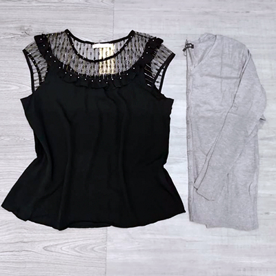 Blusa Com Tule | Belíssima Modas