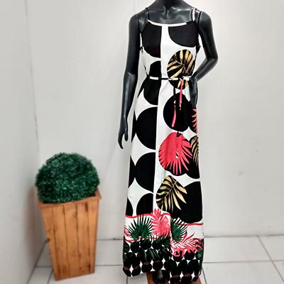 Vestido Longo Estampado | Rose Amorim Modas