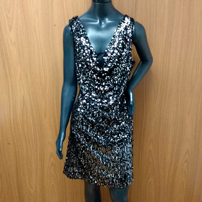 Vestido Paetê Midi | Dress Outlet