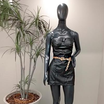 Vestido Couro Sintético | Espaço Dellas