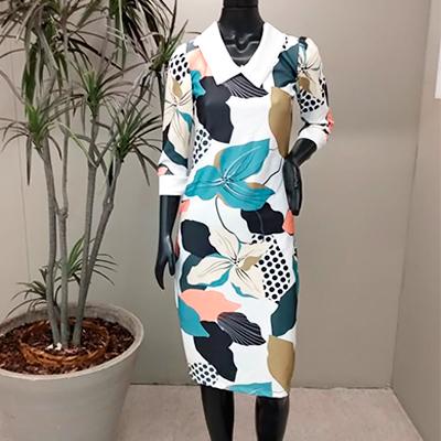 Vestido Midi Estampado | Renascer Modas