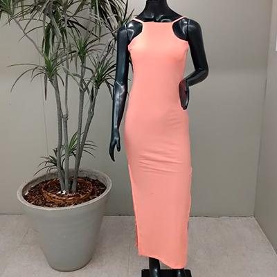 Vestido Canelado Longo | Shalon Modas