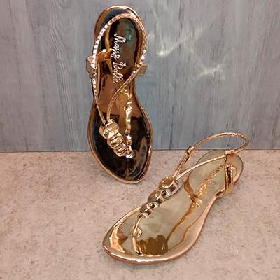 Sandália Rasteirinha Dourada | Charme Calçados