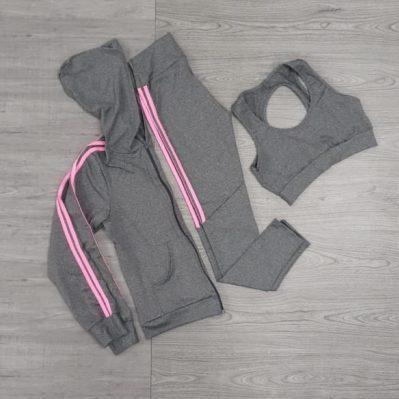 Casaco, top e legging fitness | Corpo e Forma