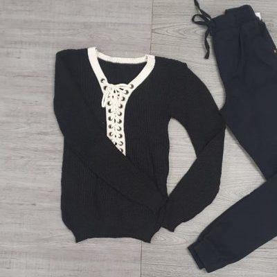Blusa manga longa e calça | Vitrini Fashion