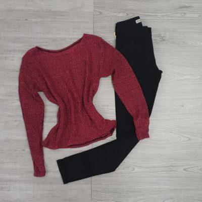 Blusa manga longa e calça jeans preta | Vitrine do Jeans