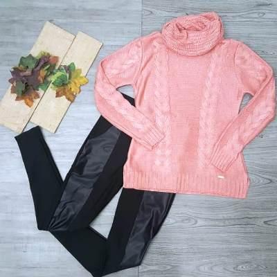 Conjunto Blusa tricot e calça montaria | Moda Rafas