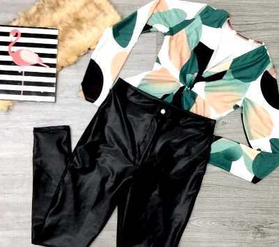 Conjunto calça cirrê e body manga | Iluminada