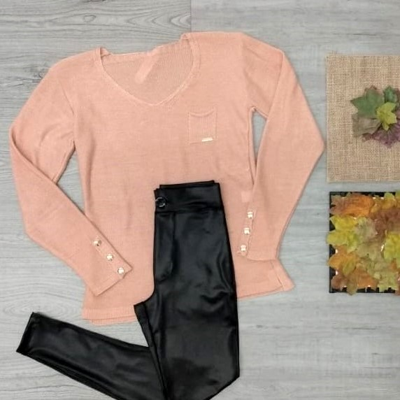 Conjunto blusa tricot e calça cirrê | By Juliana Patricia