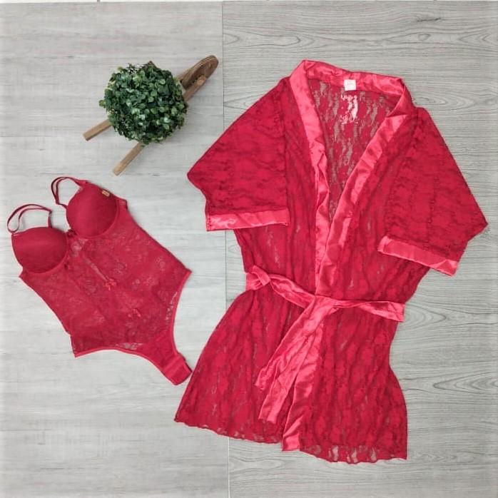 Conjunto robe e body sensual | Afrodite
