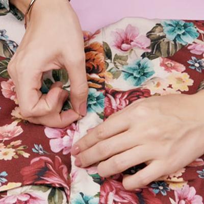 Barra em blusa | Espaço da Costura
