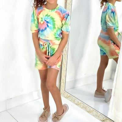 Conjunto tie dye, em viscolycra | Lenita Kids