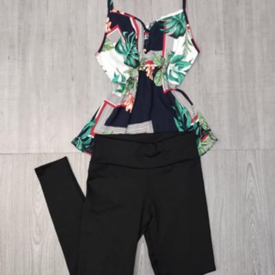 Legging e blusa de alcinha | Flor de Liz