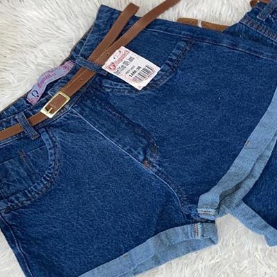 Short jeans com cinto | Tony Modas
