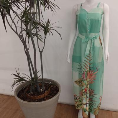 Vestido longo estampado | Ruiva Fashion