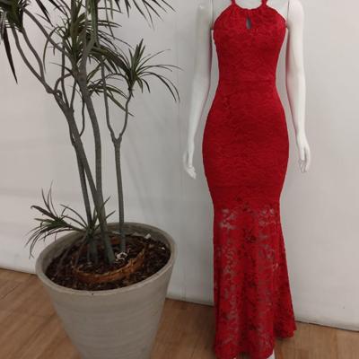 Vestido longo de renda | D'Luz Modas